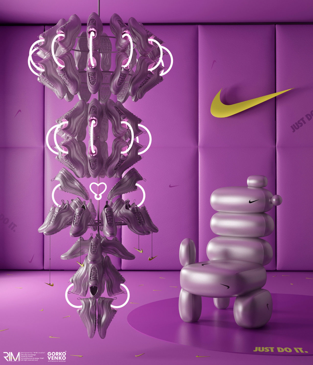 Nike Air Max Day 2020 conceptual expressive furniture collection - Изображение